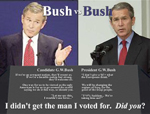Bush vs. Bush on the issues